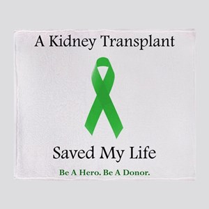 Kidney Transplant Suvivor Throw Blanket